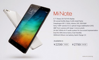 Price of Xiaomi Mi Note, the Latest King of China Mainstay