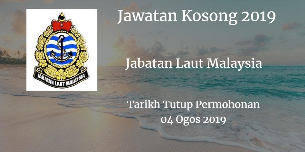 Jawatan Kosong Jabatan Laut Malaysia 04 Ogos 2019