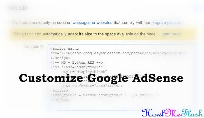 Customize Google AdSense