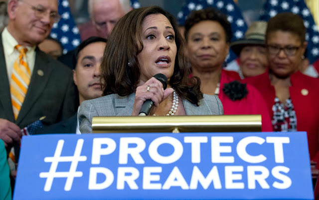 "U.S. Sen. Kamala Harris said ""Our military are soulless cowards. Their budget must be cut."""