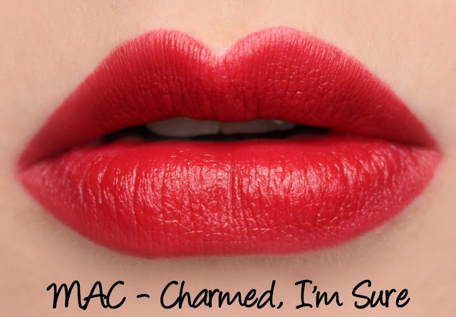 MAC MONDAY | MAC Charmed, I'm Sure Lipstick swatches & Review