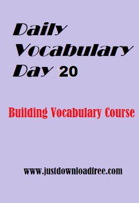 Memory tricks for vocabulary day 20