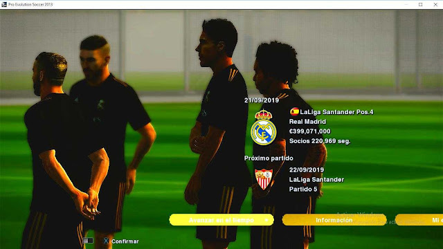 PES 2013 Real Madrid Training Kits For Master League 19/20