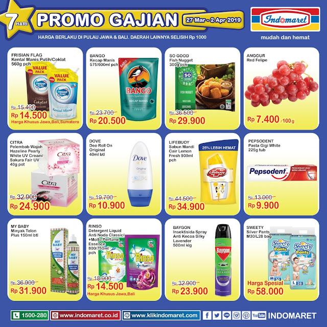 #Indomaret - #Promo #Katalog Gajian Periode 27 Maret - 02 April 2019