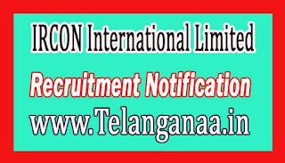 IRCON International Limited Recruitment Notificatio 2017