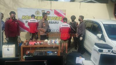Sikat Puluhan Alat Elektronik Sendirian, Pelaku Pencurian di 20 TKP ini Akhirnya Diciduk Resmob Polres Banjarbaru
