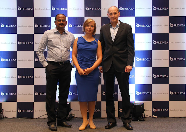 Mr. Sundarrajon( Consultant), Ms. Karolina Jonasova(Marketing Manager) and Mr. Lubos Petrzilka(Sales Director), Preciosa