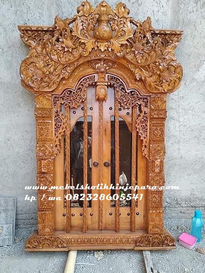100% Kusen pintu gebyok jati motif jawa - Jual berbagai ...