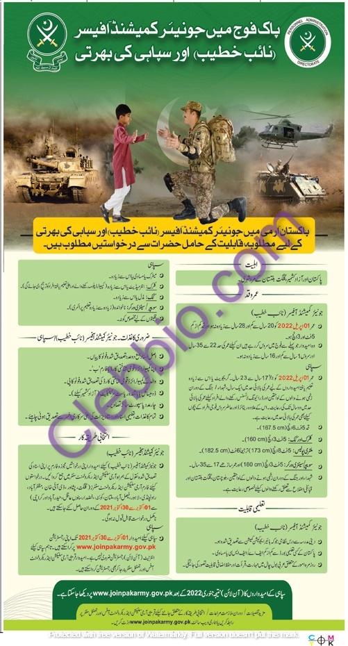 Join Pak Army Jobs 2021 – Online Registration www.joinpakarmy.gov.pk