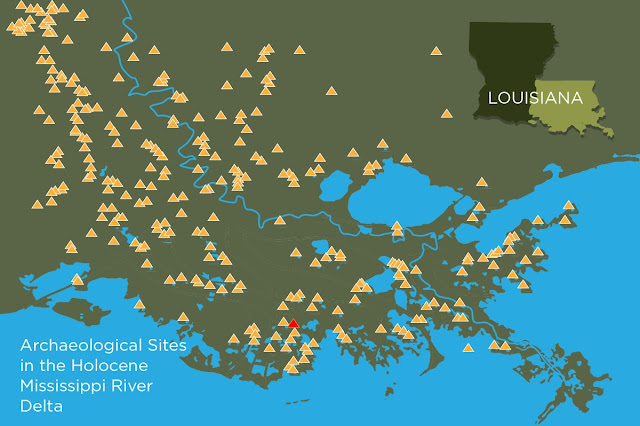 Ancient mound builders carefully timed their occupation of coastal Louisiana site