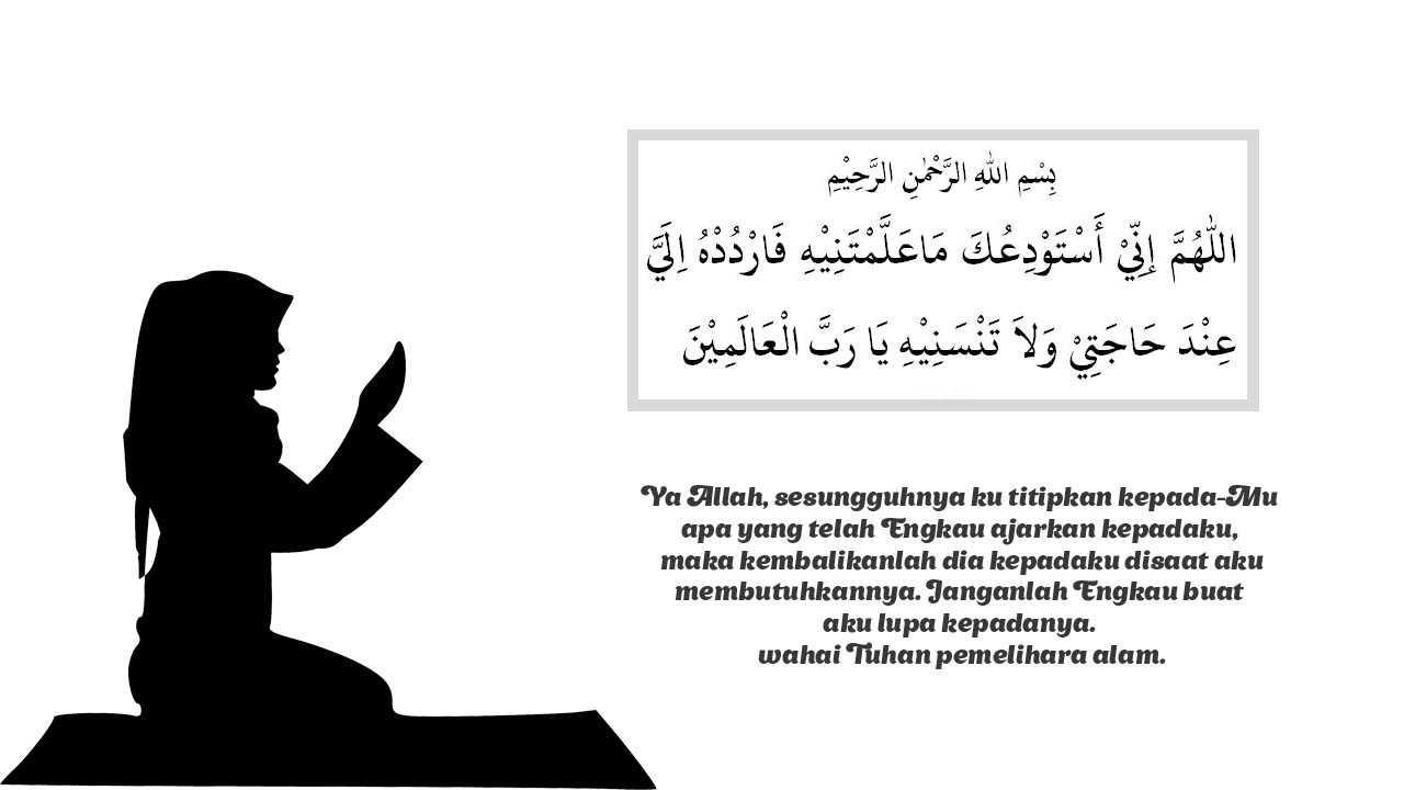 doa mengakhiri pelajaran di sekolah