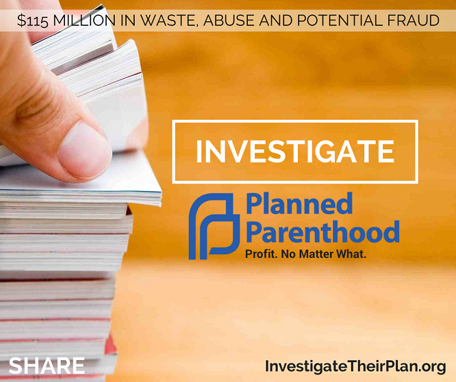 Investigate Planned Parenthood
