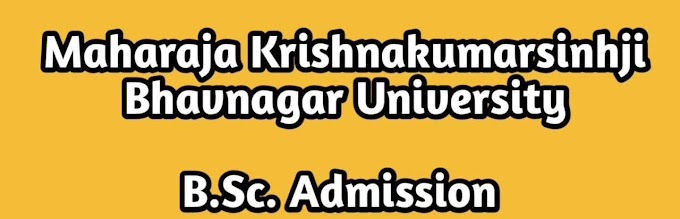 Bsc Admission Bhavnagar University 2021 Mkbu