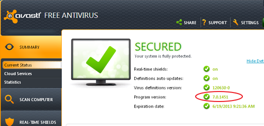 Avast Virus Definitions Update July 18 2019