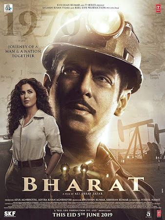 Poster Of Hindi Movie Bharat 2019 Full FHD Movie Free Download 1080P HEVC Small Size Watch Online