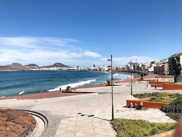 plaża la canteras, plaża, promenada, gran canaria