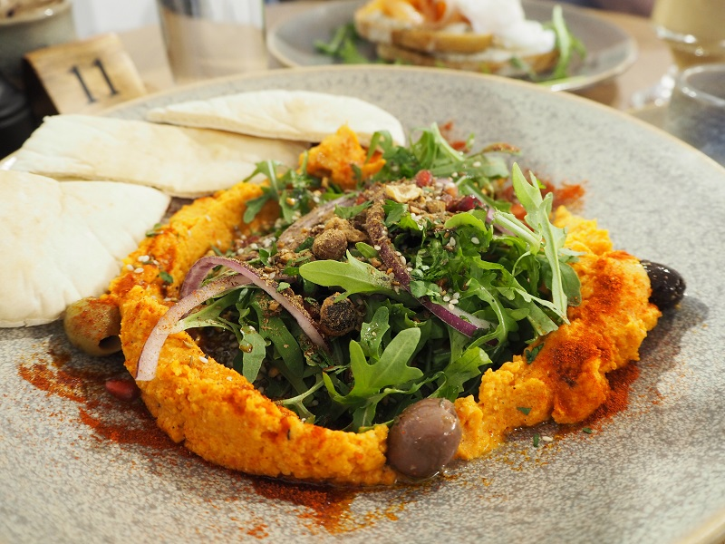 Hummus bowl at the Dowry, Lerwick