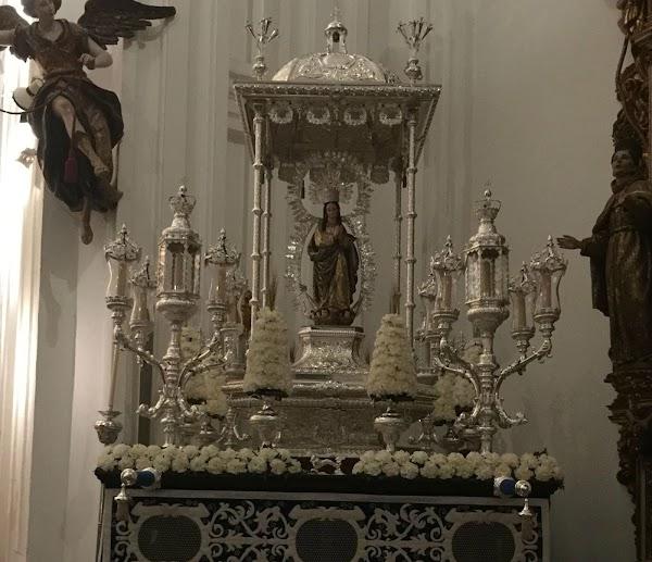 Horario e Itinerario Procesión de la Inmaculada en Umbrete