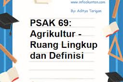 PSAK 69: Agrikultur - Ruang Lingkup dan Definisi