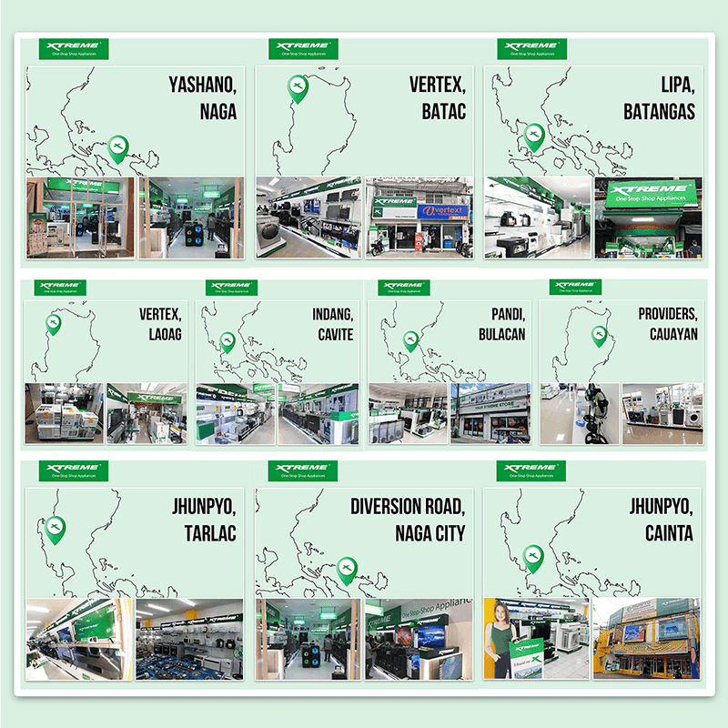 Locations of newly-opened XTREME Appliance concept stores
