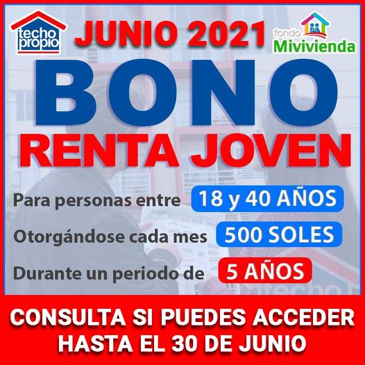Pide Hoy El Bono Renta Joven De 500 Soles De Junio 2021