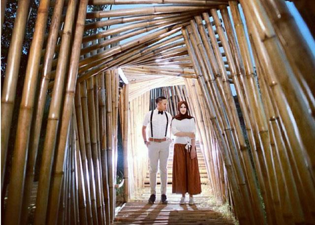 Bangunan Terbuat dari Bambu
