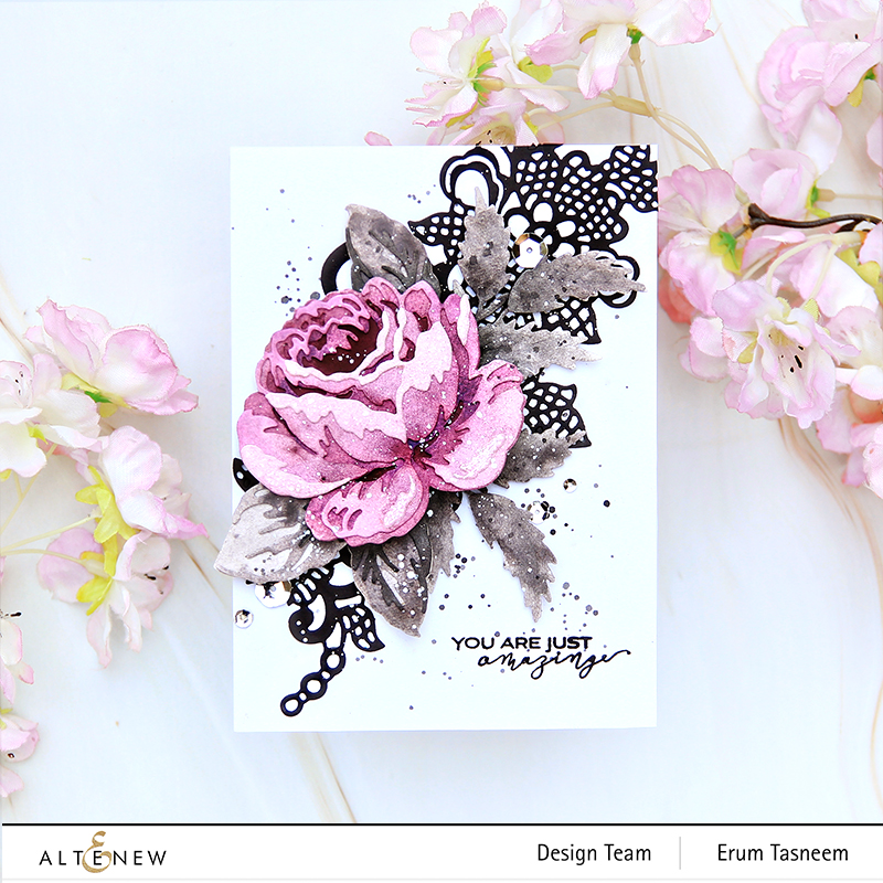 Altenew Craft-A-Flower: Antique Rose Layering Die Set | Erum Tasneem | @pr0digy0
