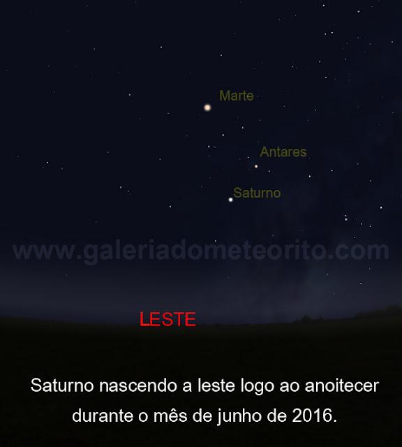 Saturno a leste - junho de 2016