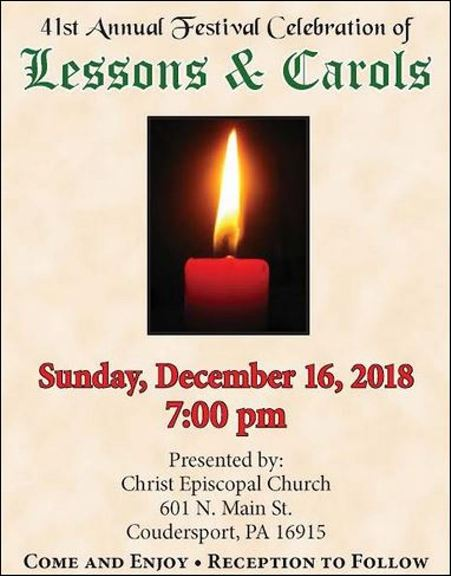 12-16 41st Annual Festival Celebration of Lessons & Carols