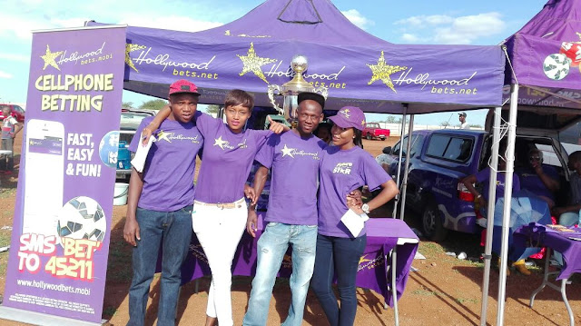 The Hollywoodbets team at the Sinthumule Kutama Easter Sports Challenge 2016 in Makhado