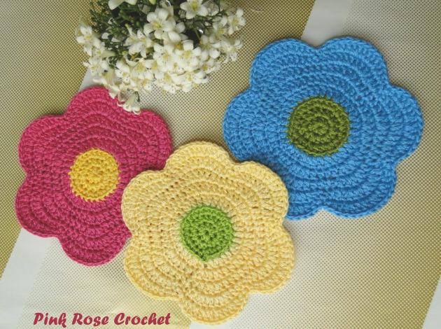 Flower Power Dishcloth Porta-Copos Flor