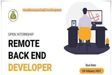 Lowongan Kerja Remote Back End Developer
