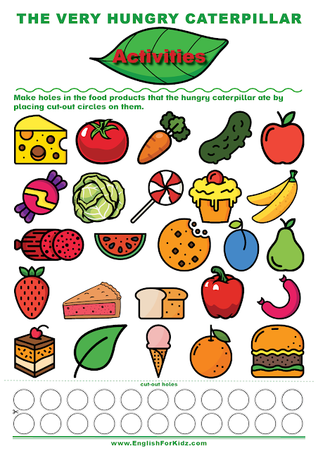 The Very Hungry Caterpillar reading comprehension activity
