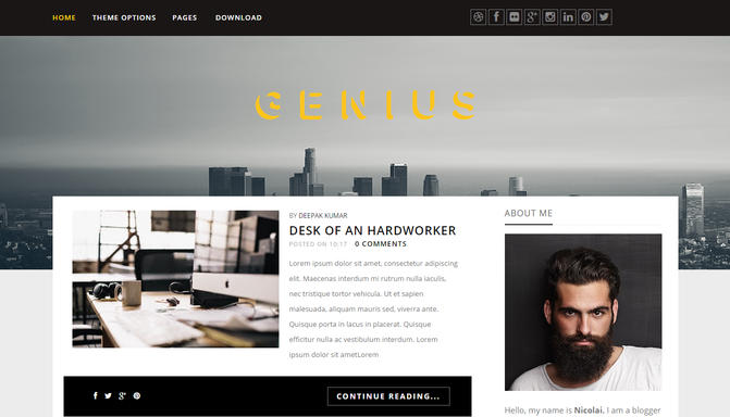 Genius blogger Template