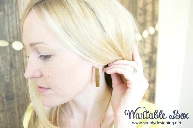 Gold+Rectangle+Hoop+Earings+DSC04172 Wantable Jewelry 13