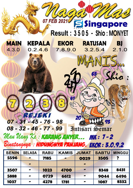 Syair Sgp Nagamas Minggu 07 Februari 2021