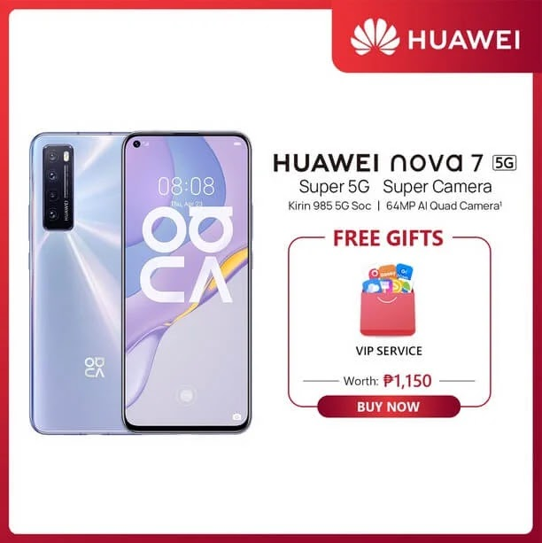 Huawei Nova 7 in Shopee