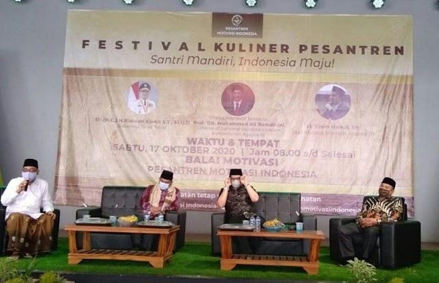 Festival Kuliner Pesantren Motivasi Indonesia Usung Tema Santri Mandiri Indonesia Maju