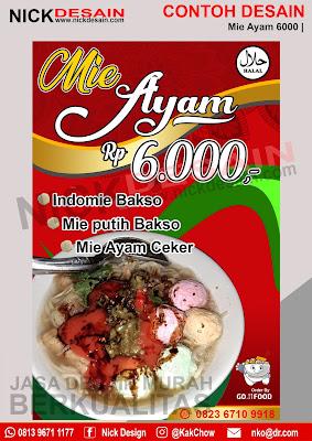 Contoh Desain Banner Spanduk Mie Ayam 6000