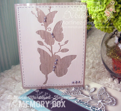 butterfly card using the negative with faux wood paper