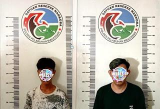 Satnarkoba Polres Pelabuhan Makassar Kembali Ciduk dua Pelaku Narkoba