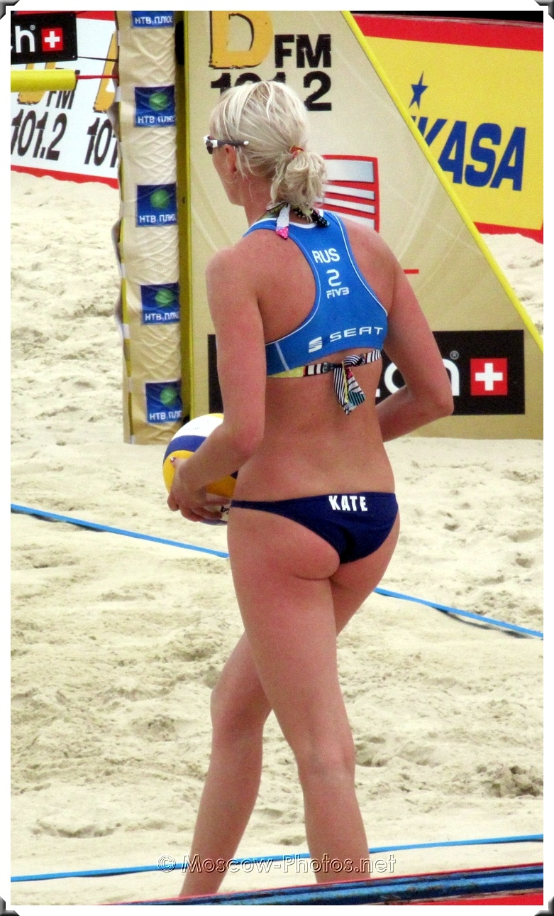 Serve Of Russian Beach Volley Team Kate