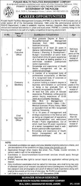 primary-secondary-healthcare-department-punjab-jobs-2020