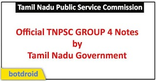 TN Government Official Notes for TNPSC Group 4 Tamil & English PDF