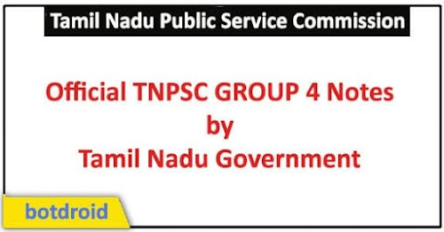 TN Government Official Notes for TNPSC Group 4 Tamil & English 2019