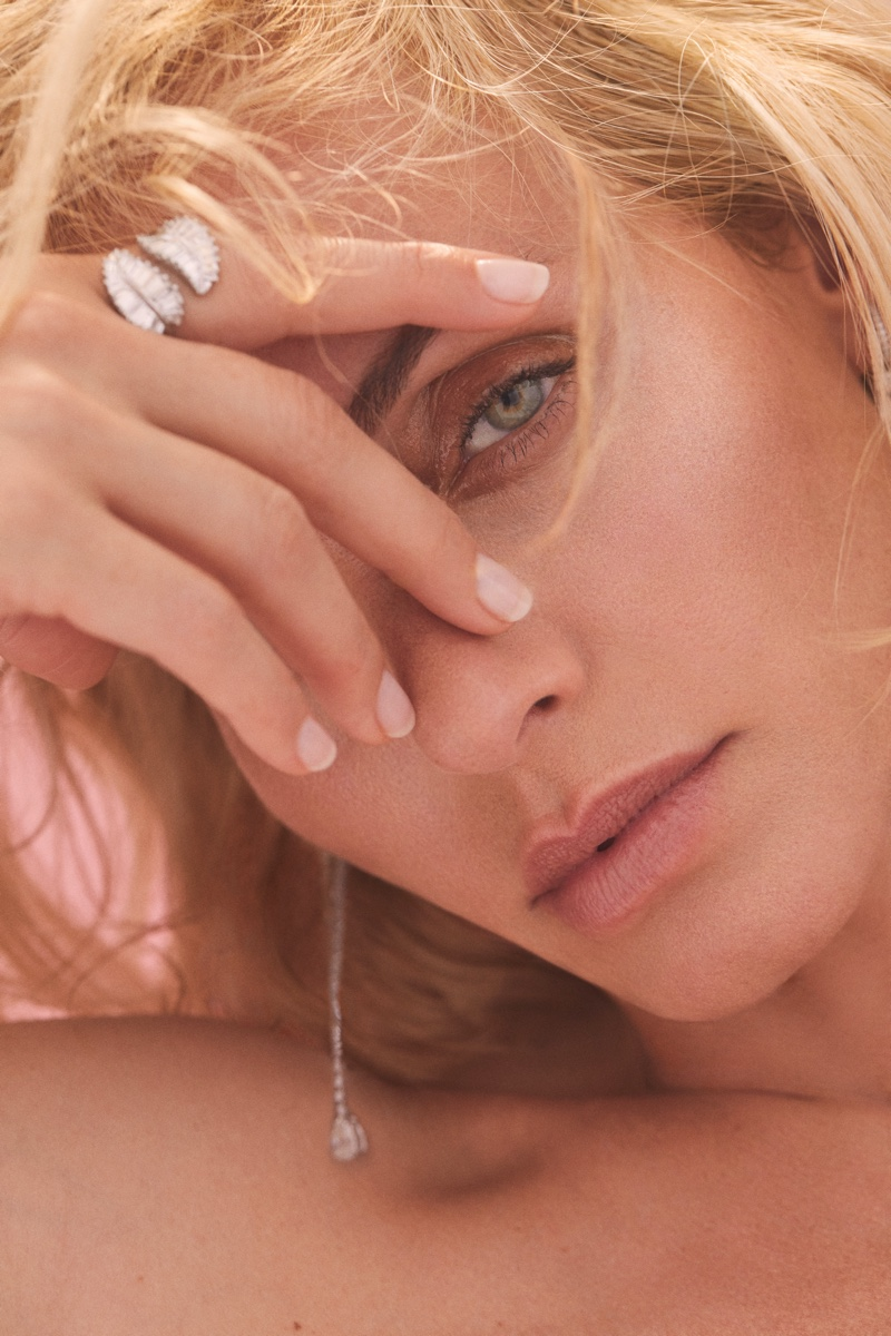 Model Amber Valletta appears in Anita Ko 2020 campaign