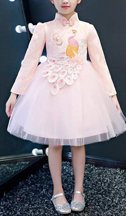 Girls Cheongsam Qipao Gown For Children