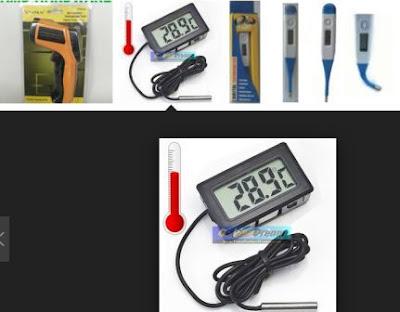 Termometer digital dalam Contoh Soal dan Pembahasan Konversi Suhu Termometer