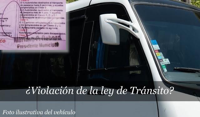 Violación de la ley Nacional de Tránsito?