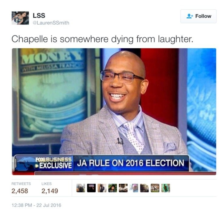 Ja Rule on 2016 election